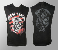 Sons Of Anarchy  Muscle T-shirs - Reaper Red