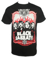 Black Sabbath T-Shirt - Red Flames