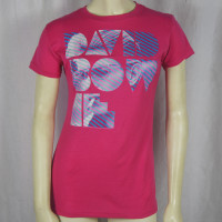 David Bowie Girls T-Shirt -  Striped Photo Logo