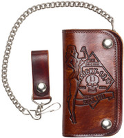 Lucky 13 Wallet - Antique Embossed No Rider
