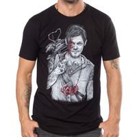 Black Market Art  T-Shirt - Wayne Maguire Walking Dead Daryl Dixon