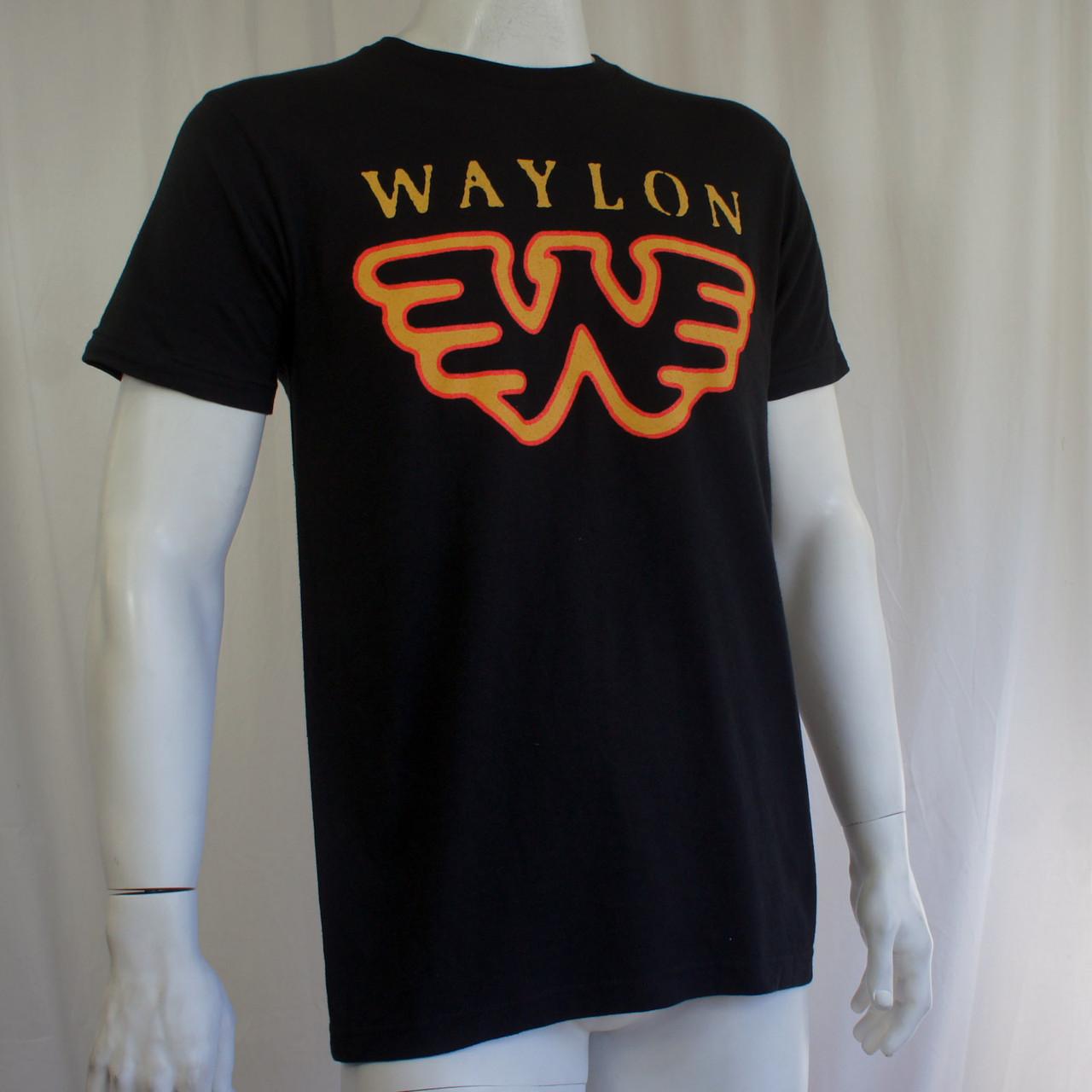 Waylon Jennings T Shirt Wings W Logo Merch2rock Alternative Clothing