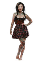 Lucky 13 Mini Circlet Skirt  - Juliette Skull