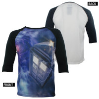 Doctor Who Baseball T-Shirt - Tardis In Space