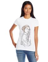 Star Wars Juniors T-Shirt - Princess Leia Outlined Art