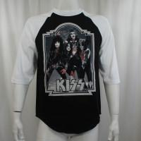 Kiss Baseball Raglan T-Shirt - Glitter '76