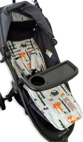 Forest Animals Cotton Pram Liner to fit Baby Jogger City Mini GT