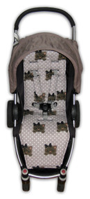 Little Kitty on Polka Dot Cotton Pram Liner to fit Agile/Agile Plus
