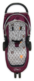 Peekaboo Grey Cotton Pram Liner to fit Baby Jogger