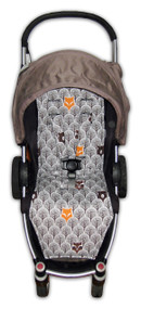 Peekaboo Grey Cotton Pram Liner to fit Agile