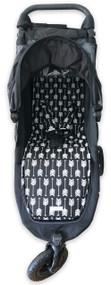Arrows Black & White Cotton Pram Liner to fit Baby Jogger City Mini GT - back in stock!