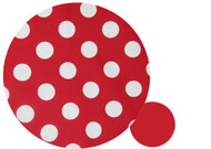 """Minnie"" Polka Dot White & Red to fit Strider"