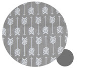 Arrows Grey & White Cotton Pram Liner to fit Bugaboo Bee