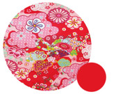 Kimono Blossom Red Pram Liner to fit Bugaboo Bee