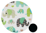 Elephants Cotton Pram Liner to fit UPPABaby - limited edition