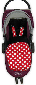 Minnie Red Polka Dot & Black Snuggle Bag to fit Baby Jogger