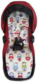"Russian Doll ""Matroushka"" Cotton Pram Liner to fit Baby Jogger - back in stock!"