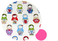 "Russian Doll ""Matroushka"" Cotton Pram Pram Liner to fit SilverCross"