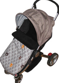 Peekaboo Grey Universal Fit Snuggle Bag