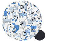 Furry Friends Blue Snuggle Bag to fit Baby Jogger