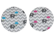 Chevron Elephants Blue & Pink Pram Liner Set to fit BJCMGT Double