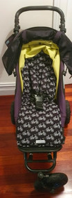 Classic Bikes Black Cotton Pram Liner to fit Mountain Buggy Swift/Mini