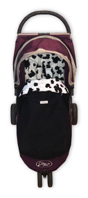 Faux Fur Black & White Snuggle Bag to fit Baby Jogger