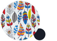 Bright Feathers Cotton Pram Liner to fit Bugaboo Cameleon