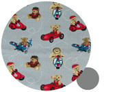 Uppababy Teddy Bear Adventures Grey Cotton Pram Liner