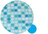 Retro Dots Aqua Cotton Pram Liner to fit Stokke