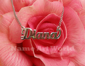 name necklace made with stainless steel- Never tarnished