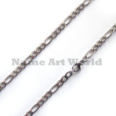 Wholesale Stainless Steel Figaro Chain 5 mm wide - High Polished---Lower price guarantee