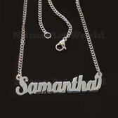 Samantha Name Necklaces. Next day ship. NeverTarnishes