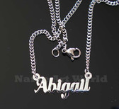 Abigail Name Necklaces. Next day ship. NeverTarnishes