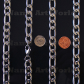 Wholesale Stainless Steel Figaro Chain 11.3 mm wide - High Polished