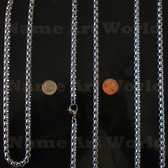 Wholesale Stainless Steel Box Chain Round 7 mm - High Polished