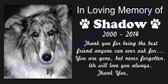 "Pets Customized Grave Marker- Memorial  8"" x 4"""