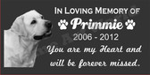 "Dogs Grave Marker- Memorial  8"" x 4"""