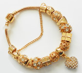 Bracelet  with a Luxury Heart Charm Gold plated Bracelets & Bangles for Woman