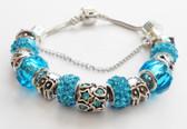 Beautiful Woman Bracelet. Blue accents.