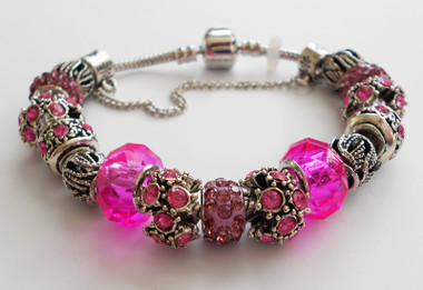 Fuchsia accents woman Bracelet bangle.