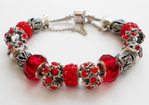 Ruby color accents woman Bracelet bangle.
