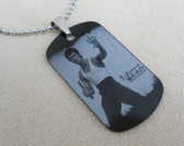 Bruce Lee Dog tag - Laser engraved with a stainless steel chain