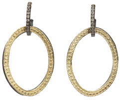 Armenta Open Circle Link Drop Diamond Earrings