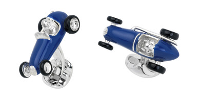 Deakin & Francis Racing Car Cufflinks Blue