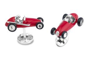 Deakin & Francis Racing Car Cufflinks Red