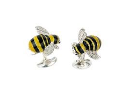 Deakin & Francis Silver Bumble Bee Cufflinks