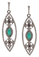 Armenta Malachite Doublet and Maltese Cross Earrings