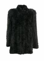 Paula Lishman Hand Knit Beaver Shawna Coat