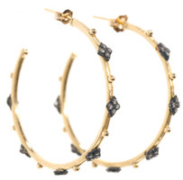 Armenta Earrings Scroll Cravelli Cross Gold Hoops